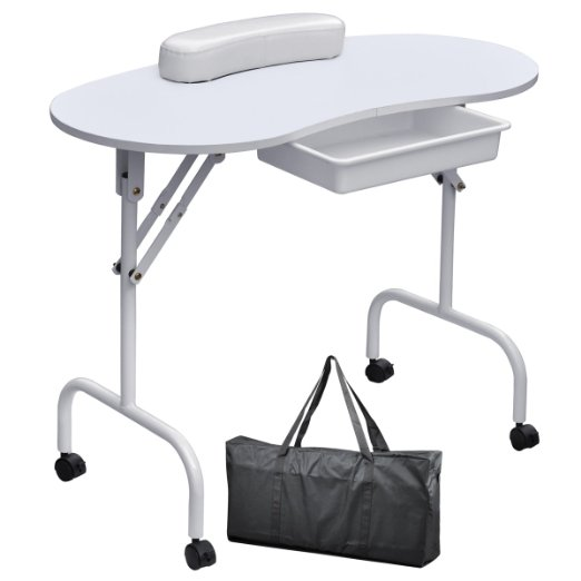 Manicure tables choose the perfect nail station broke for Long manicure table