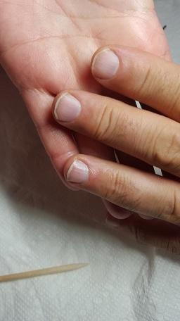 mens manicure finish