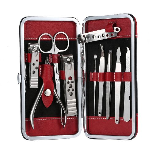 stainless steel mens manicure kit