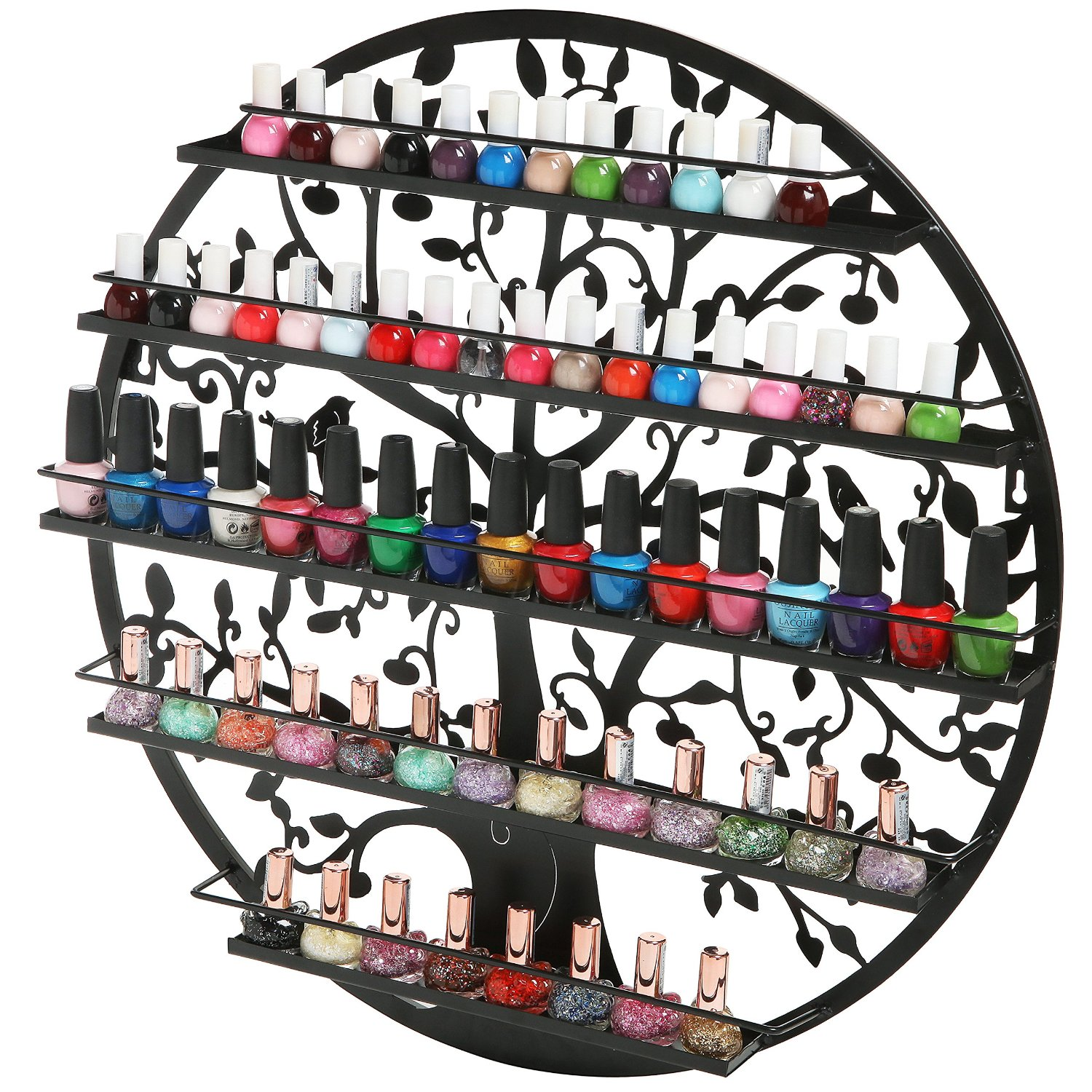 round nail polish rack mount display holder