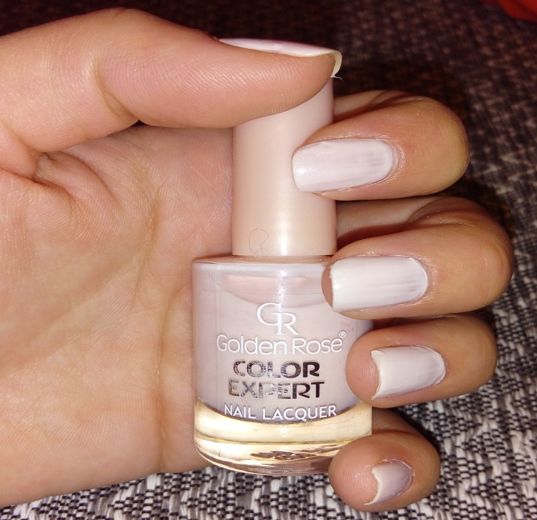Golden Rose Nail Polish White