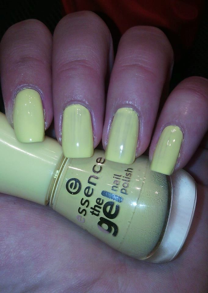 Essence Gel Nail Polish Yellow